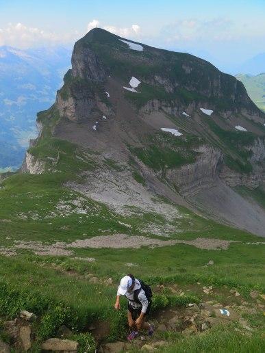 Vue sur le Forstberg pendant la montée final du Druesberg