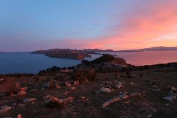 Coucher de soleil sur l'Isla del Sol