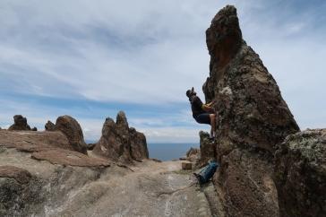 Essais de bloc au Cerro Kesanani