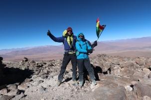 Au sommet de l'Uturuncu