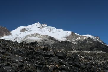 Vue sur le Huayna Potosi du refuge