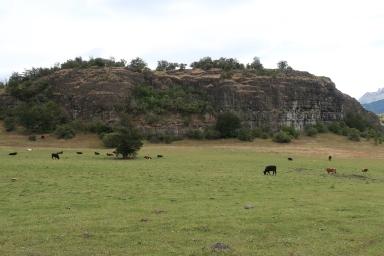 Vue sur la falaise de Rincon Campero