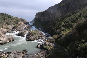 Arrêt photos pour les cascades sur la route pour aller à El Maitenal