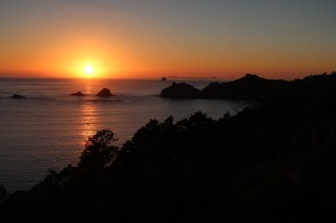Levé de soleil sur le Pacifique