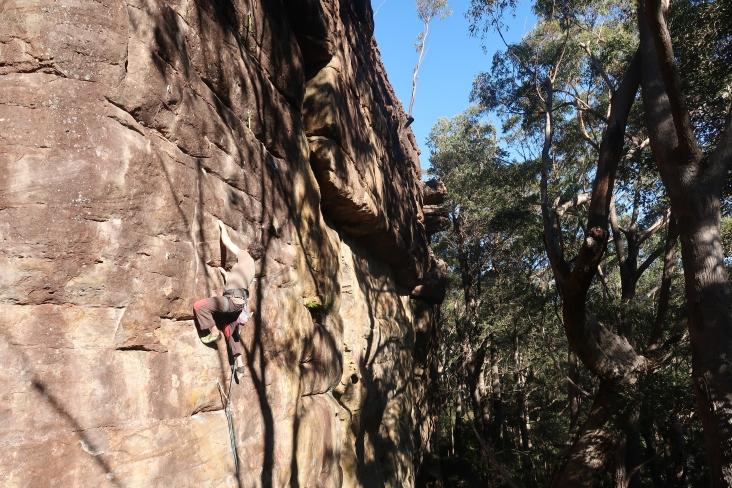 James dans Bullen's Route, 25, secteur Tianjara Falls, Nowra