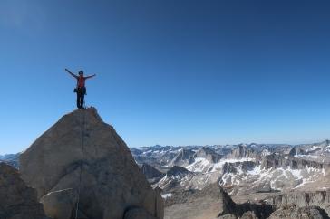 Au sommet de Bear Creek Spire