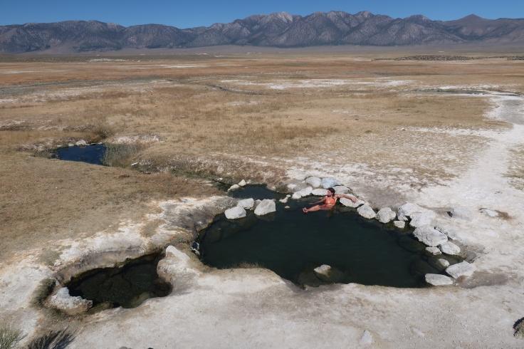 Source d'eau chaude à Mammoth Lakes